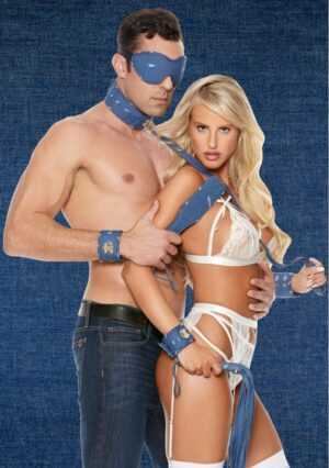 Denim Bondage Kit - Tough Denim Style - Blue
