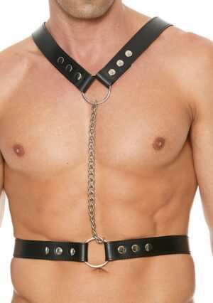 Twisted Bit Black Leather Harness - Premium Leather - Black - One Size